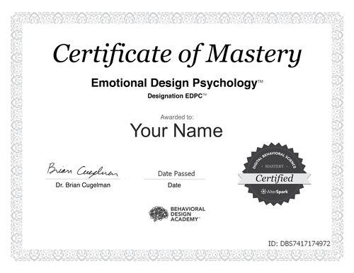 Behavioral Design Certification - EDPC